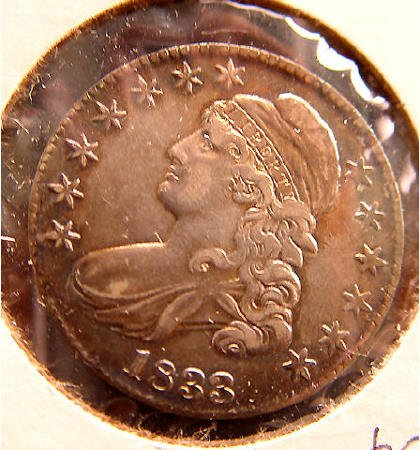 18: 50 Cent Silver 1833 American Coin