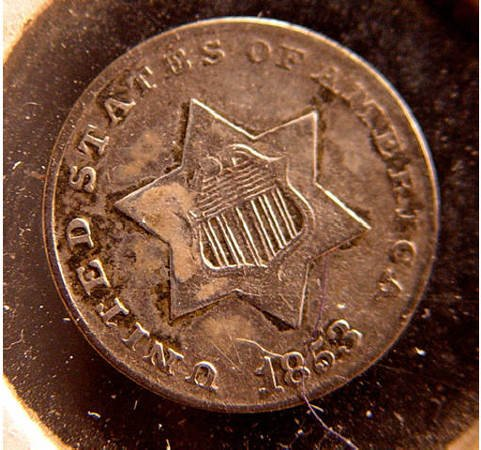 20: Half Dime Silver 1853 American Coin