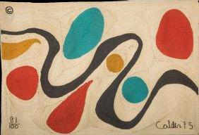 """116: Alexander Calder """"Turquoise"""" ed 81 of 100 Bon Art  - 4"""