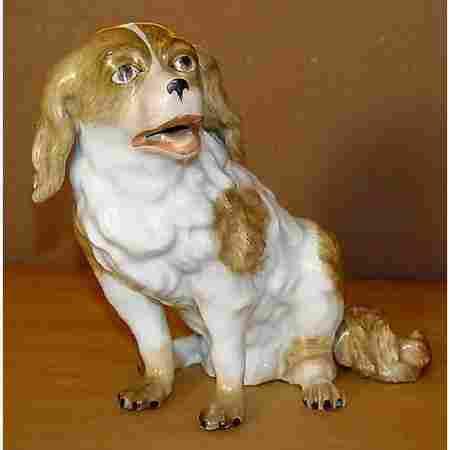 151: 18c Meissen Augustus Rex Dog Sculpture