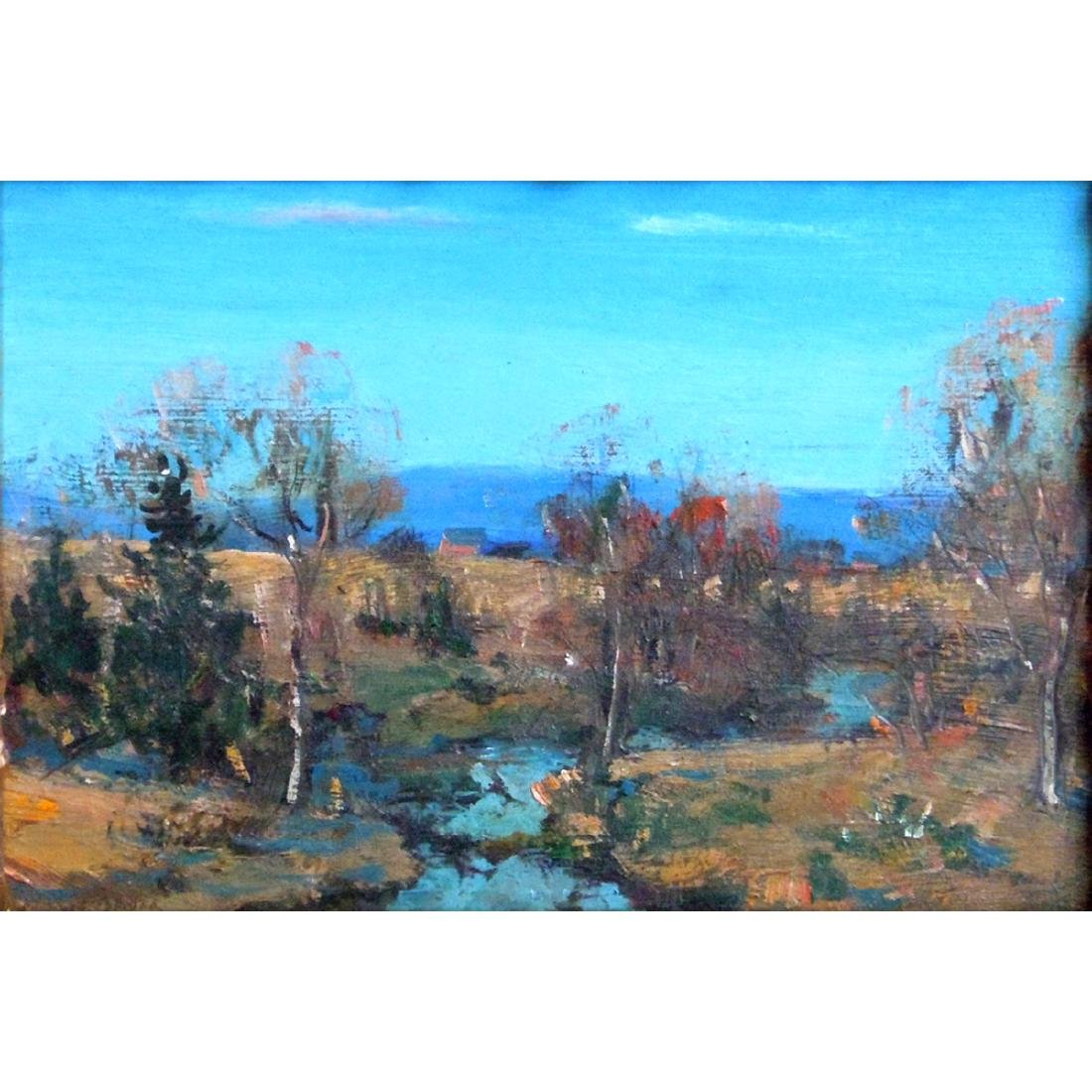 WALTER EMERSON BAUM PENNSYLVANIA HILLS OIL PAINTING - 2