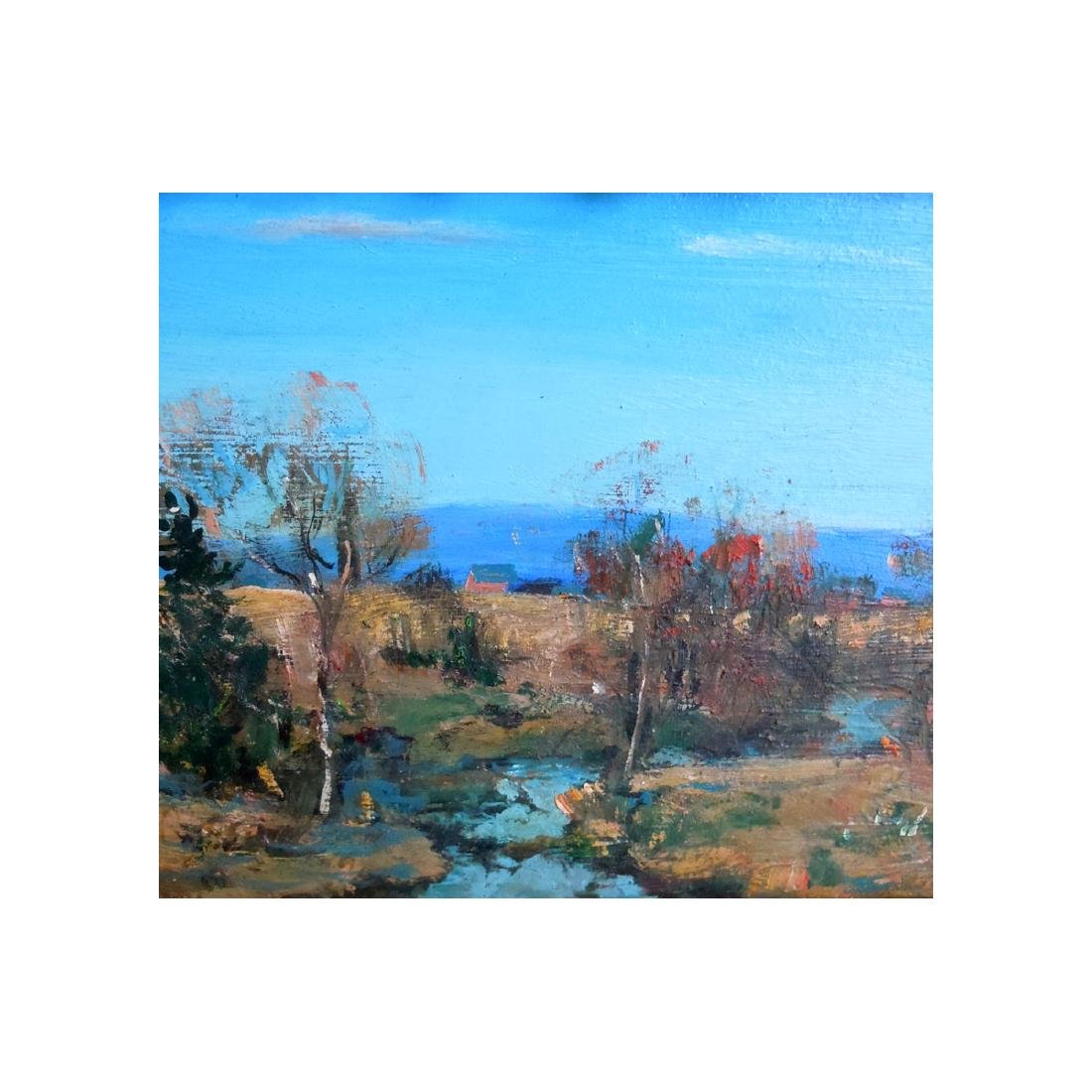 WALTER EMERSON BAUM PENNSYLVANIA HILLS OIL PAINTING - 4