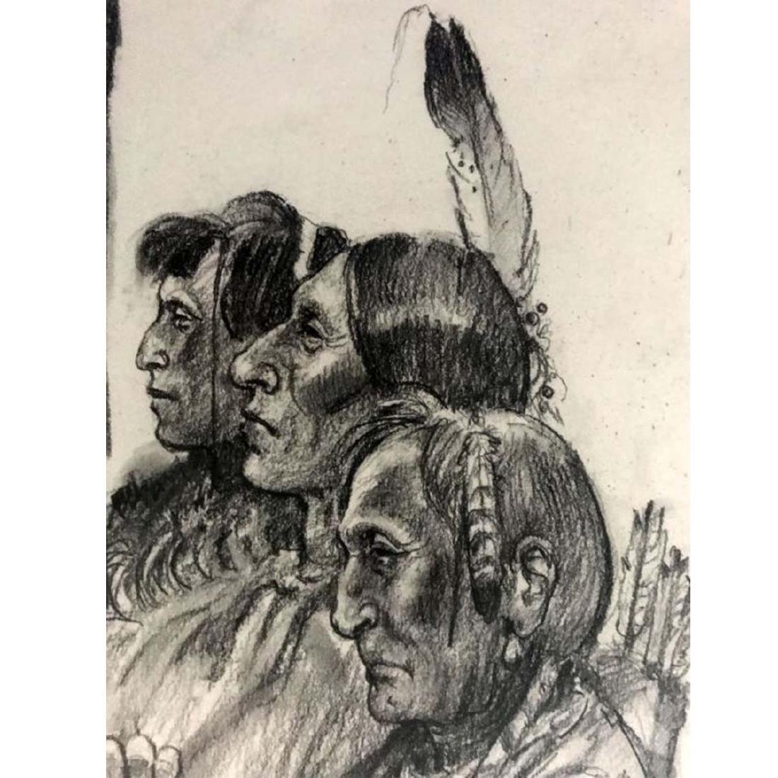 JOE NEIL BEELER PROUD INDIANS STANDING GROUND CHARCOAL - 4
