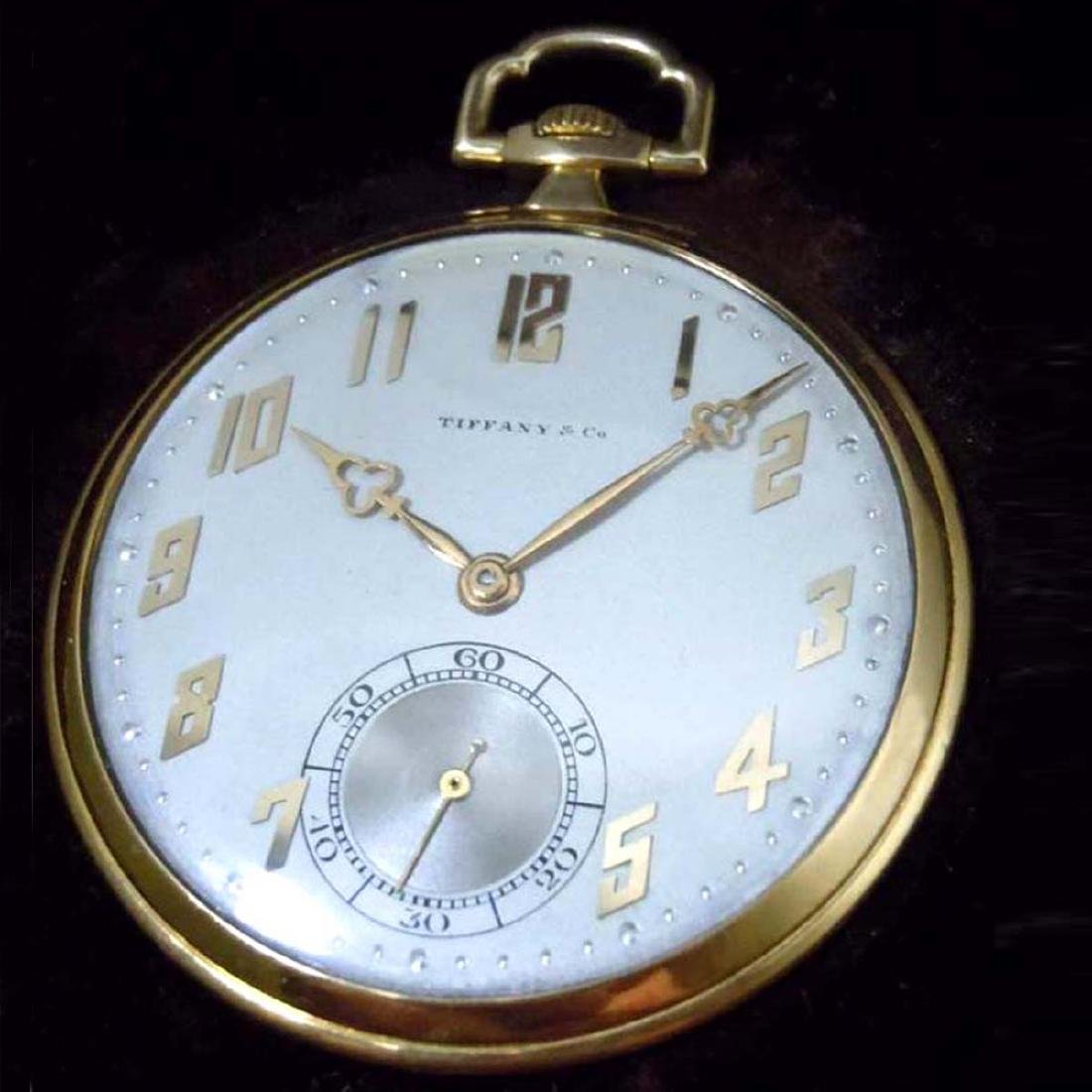 ART DECO 14KT GOLD IWC FOR TIFFANY & Co. POCKET WATCH ;