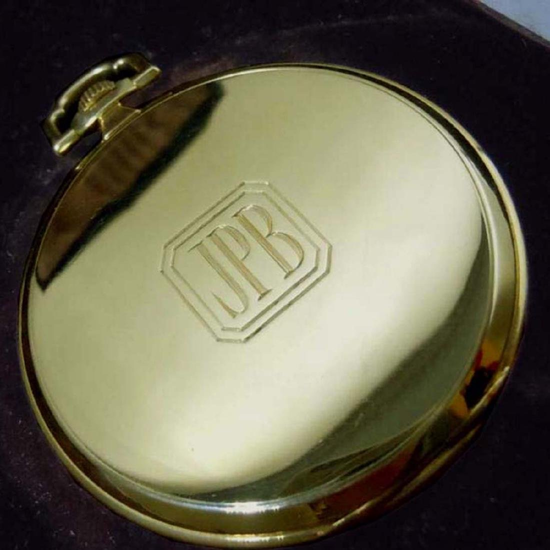 ART DECO 14KT GOLD IWC FOR TIFFANY & Co. POCKET WATCH ; - 6