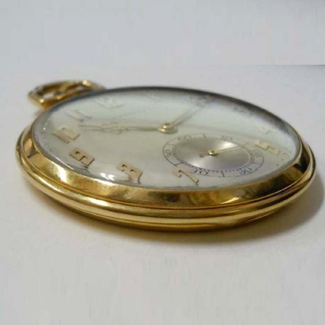 ART DECO 14KT GOLD IWC FOR TIFFANY & Co. POCKET WATCH ; - 8