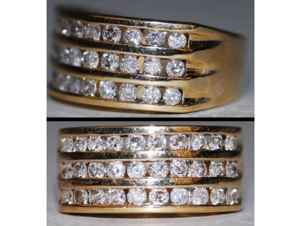 510: 14kt Gold 1ct Channel Set Diamond Ring