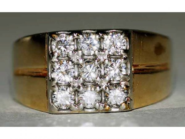 511: 14kt Gold 1ct Diamond Ring G-H Color VS Clarity