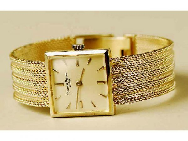 520: 14kt Gold Baume Mercier Wristwatch
