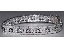 549: 14kt White Gold & 2ct Diamond Bracelet