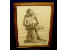 1024 Charcoal Drawing of Spinario by Grevis Melville