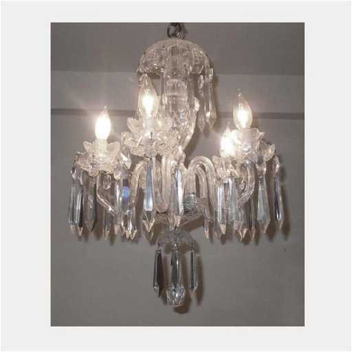 waterford crystal 5 arm chandelier ceiling fixture
