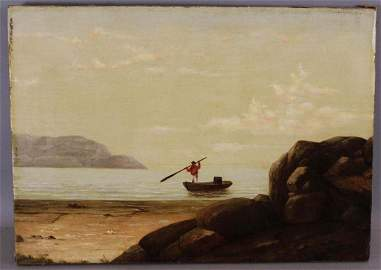MARY BLOOD MELLEN GLOUCESTER SEASCAPE OIL PAINTING with