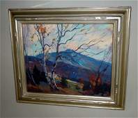 EMILE ALBERT GRUPPE OIL PAINTING MT. MANSFIELD IN FALL