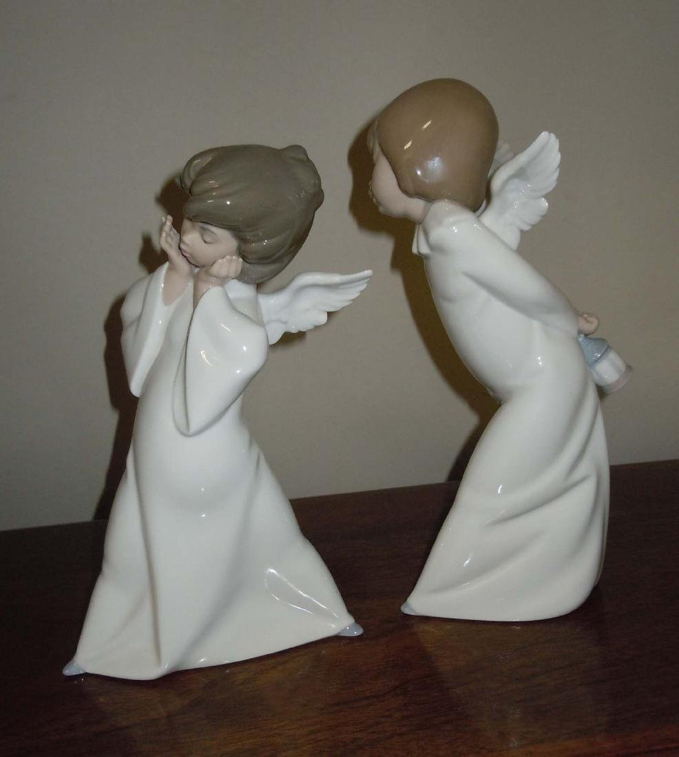 LLADRO 4959 MIME & 4960 CURIOUS ANGEL FIGURINES - 4