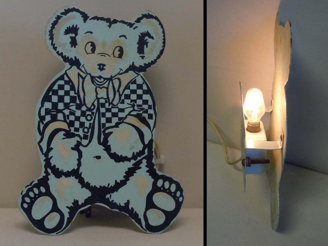 GRATEFUL DEAD TEDDY BEAR NIGHT LIGHT PIGEON EGG BLUE - 2