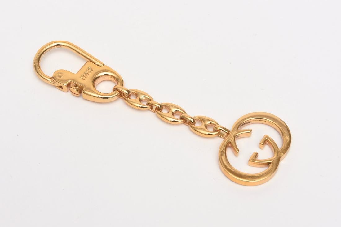 17d3f959a GUCCI ITALY DOUBLE G LOGO BRASS CHAIN KEYRING KEYCHAIN - Feb 27, 2019 |  Kotler Galleries & Auctioneers in NY