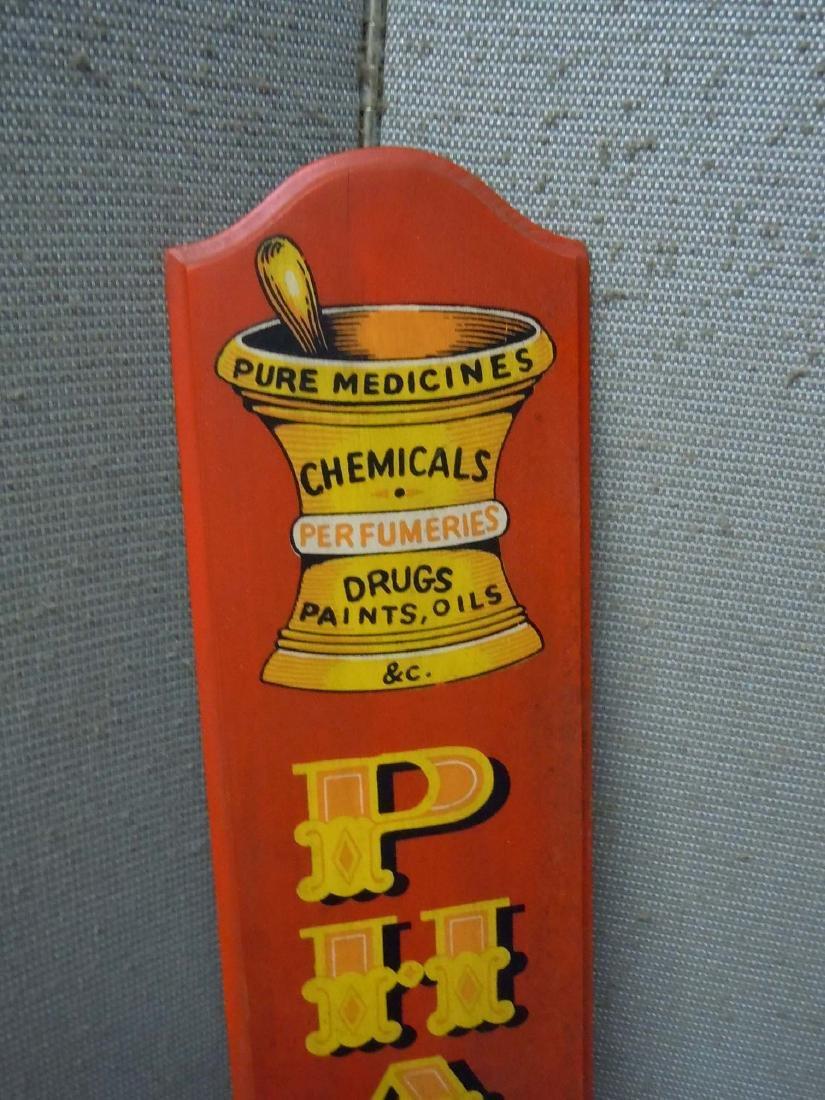 PAINTED WOOD PHARMACIST ADVERTISING SIGN PHARMACY - 2