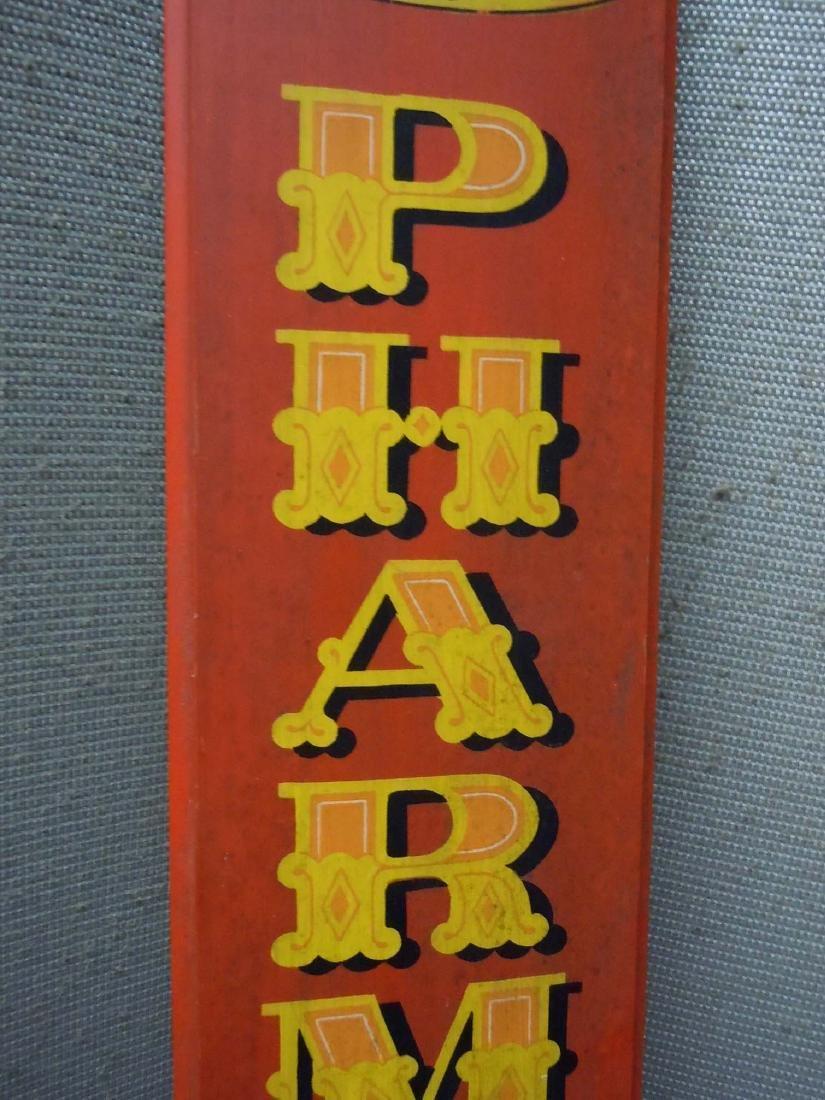 PAINTED WOOD PHARMACIST ADVERTISING SIGN PHARMACY - 3