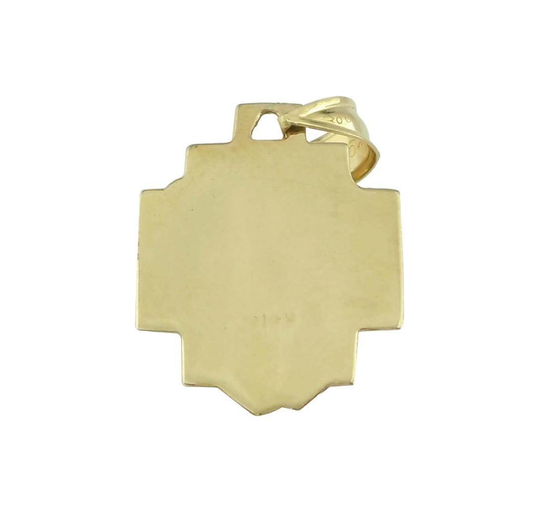 14Kt GOLD DIAMOND 3D JESUS CHRIST HEAD CHARM PENDANT A - 3