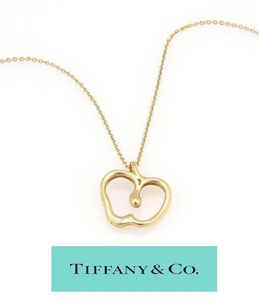 c6e98011a TIFFANY ELSA PERETTI 18KT GOLD APPLE PENDANT NECKLACE. placeholder