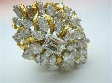 PLATINUM 18K 7.40CT DIAMOND LADIES RING GIA J VS2 .91Ct