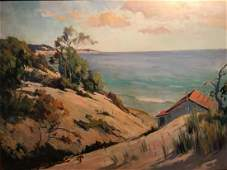 FRANK VIRGIL DUDLEY INDIANA DUNES OIL ON CANVAS