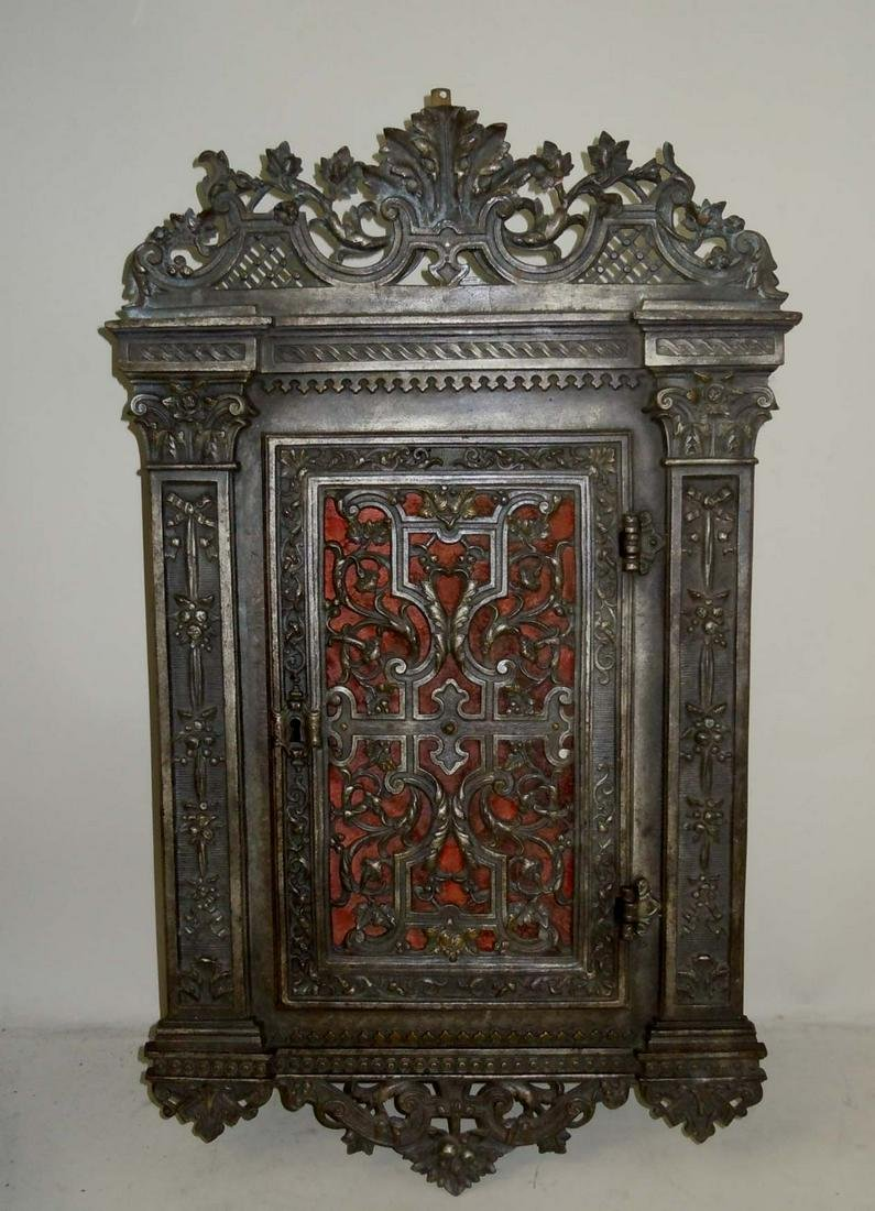 P. L. VOMBACH OFFENBACH A/M 19C GERMAN WALL CABINET