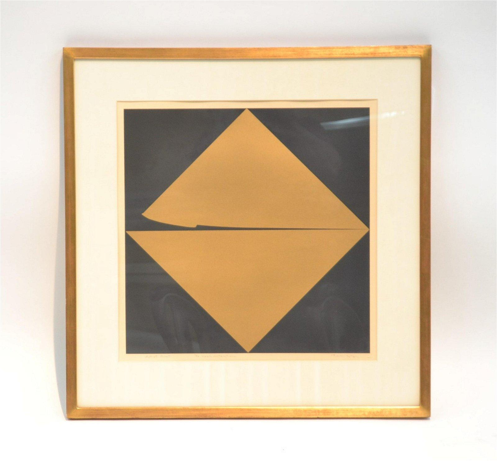 Yoshiharu Higa Lithograph Real Intention 1968 Japanese