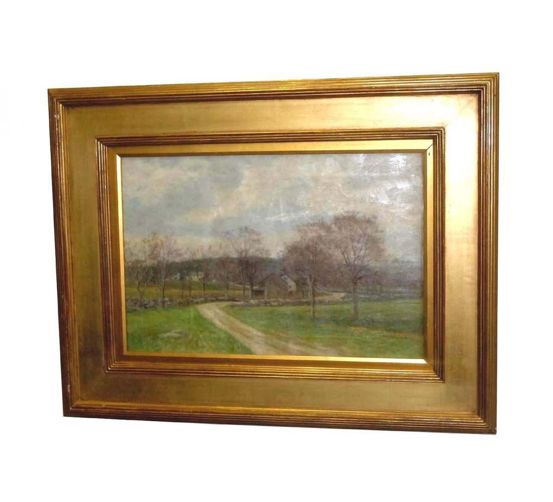 OLIVE PARKER BLACK OIL PAINTING EARLY SPRING, AMERICAN