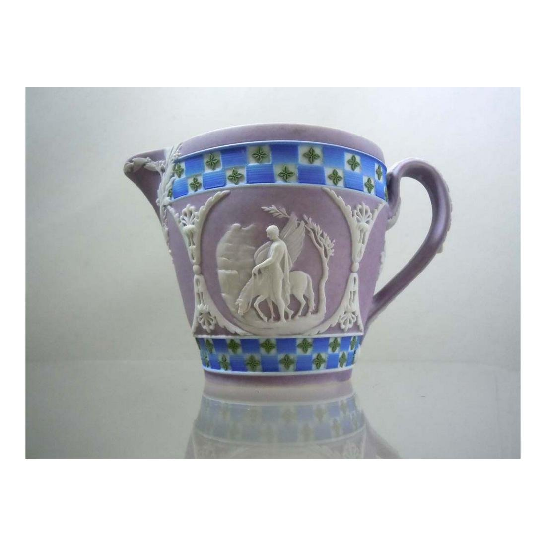 WEDGWOOD JASPERWARE FOUR COLOR CREAM JUG DICEWARE LILAC