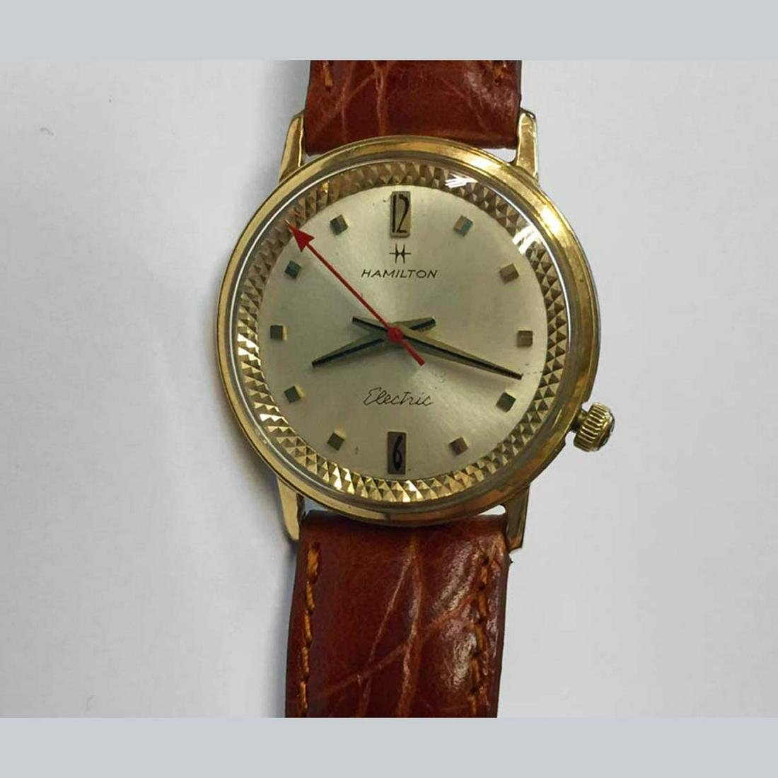 Serviced MENS HAMILTON ELECTRIC 10KT GOLD FILLED WATCH