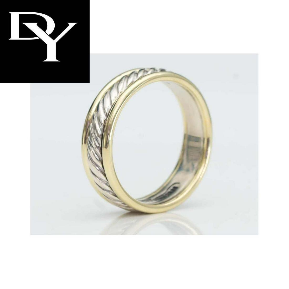 YURMAN 14K GOLD STERLING SILVER CABLE WEDDING BAND RING