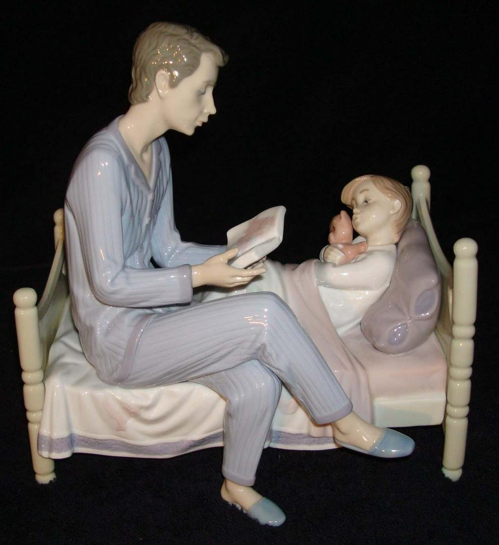 LLADRO FIGURINE #5899 JUST ONE MORE FATHER/CHILD