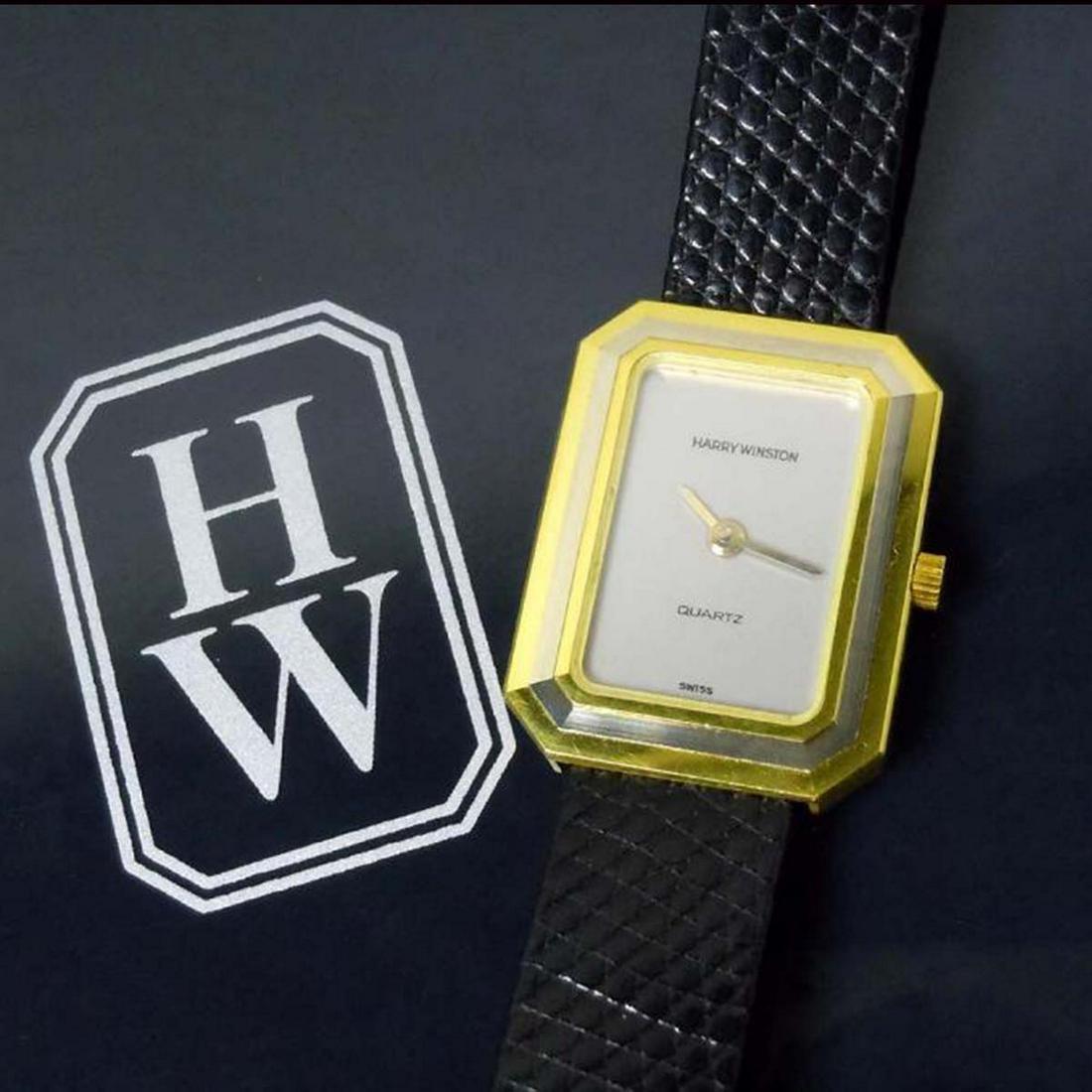 HARRY WINSTON 18KT YELLOW GOLD DRESS WATCH, MODEL 14474