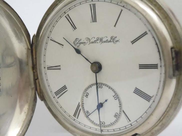 1894 COIN SILVER HUNTING CASE ELGIN POCKET WATCH 18S,
