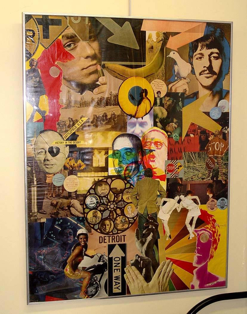 LEI SUN SEN SIGNS OF OUR TIME 1968 MIXED MEDIA COLLAGE
