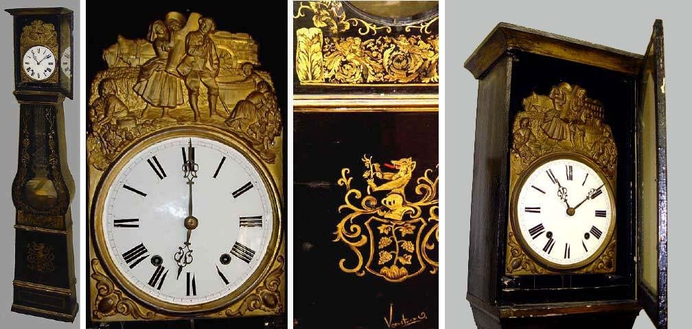 19TH CENTURY FRENCH MOBIER TALL CASE GRANDFATHER CLOCK