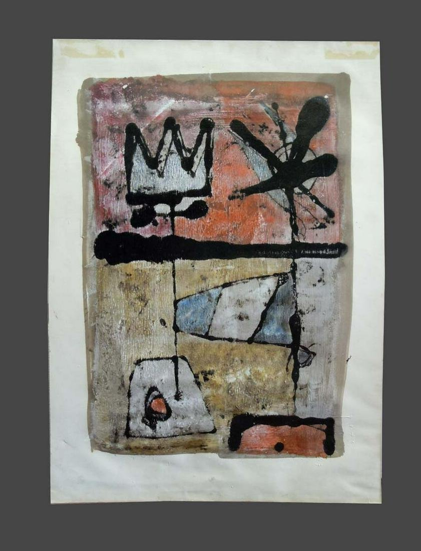 ALBERTO SARTORIS ABSTRACT EXPRESSIONIST OIL PAINTING