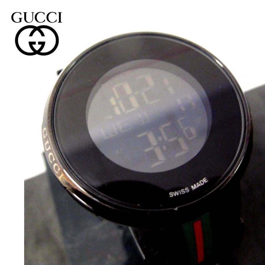 MENS GUCCI DIGITAL LCD PANTCAON 1142 BLACK SPORT WATCH