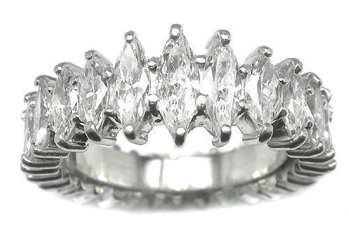 4.75CT MARQUISE DIAMOND PLATINUM ETERNITY BAND,