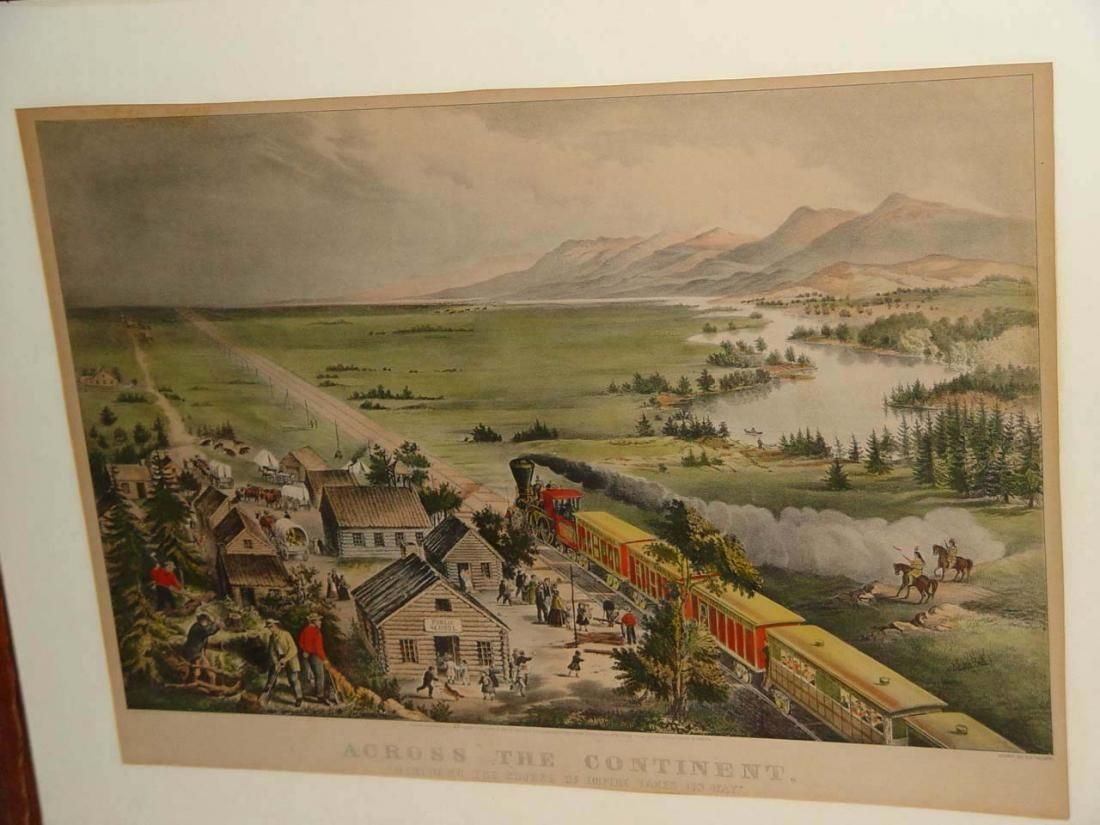 CURRIER IVES ACROSS THE CONTINENT RAILROAD LITHOGRAPH