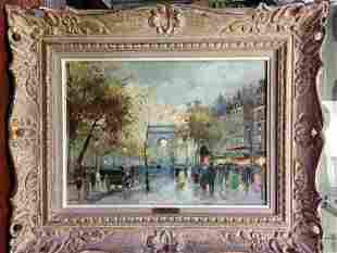 ARC TRIOMPHE CHAMPS-ELYSEES ANTOINE BLANCHARD PAINTING