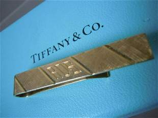 14K GOLD TIFFANY & CO. TIE BAR OR MONEY CLIP RDS