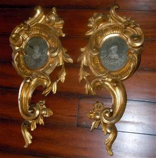ROCOCO STYLE GILTWOOD VENETIAN GLASS MIRRORS 19th Cent.