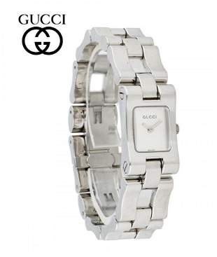 LADIES STAINLESS CHAIN LINK GUCCI 2305L SILVER STICK