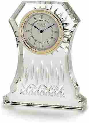 WATERFORD CRYSTAL LISMORE MANTLE DESK CLOCK 107753