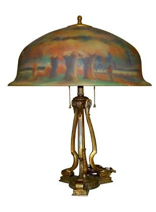 PAIRPOINT BERKLEY TABLE LAMP with ROBIN HOOD DECORATION