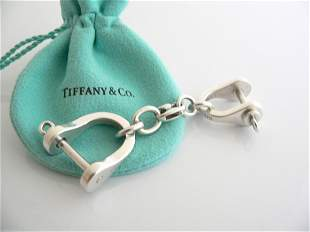 TIFFANY STERLING SILVER TWO SHACKLE VALET KEY RING