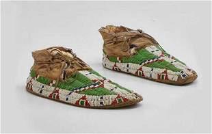 PARFLECHE SOLES NATIVE AMERICAN SIOUX INDIAN MOCCASINS